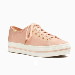 Keds x Kate Spade Triple Kick Faille Sneakers